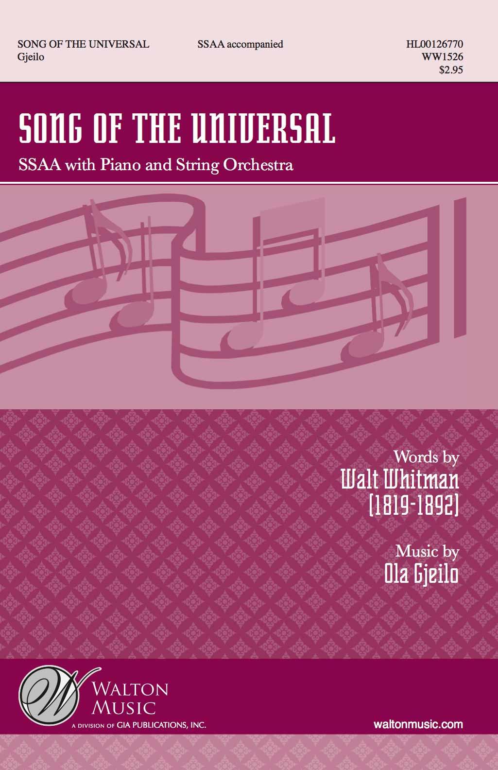 Choral : SSAA | Ola Gjeilo